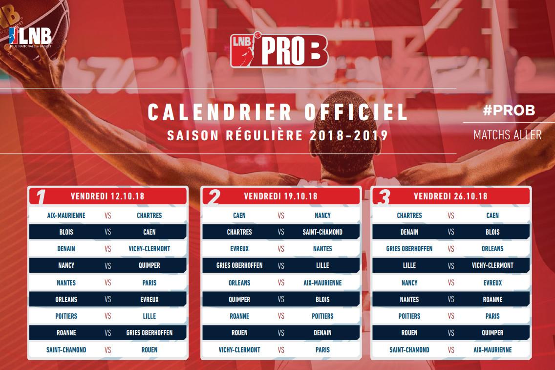 Calendrier Elan Bearnais.Chorale Basket Roanne Le Calendrier 2018 19 Devoile
